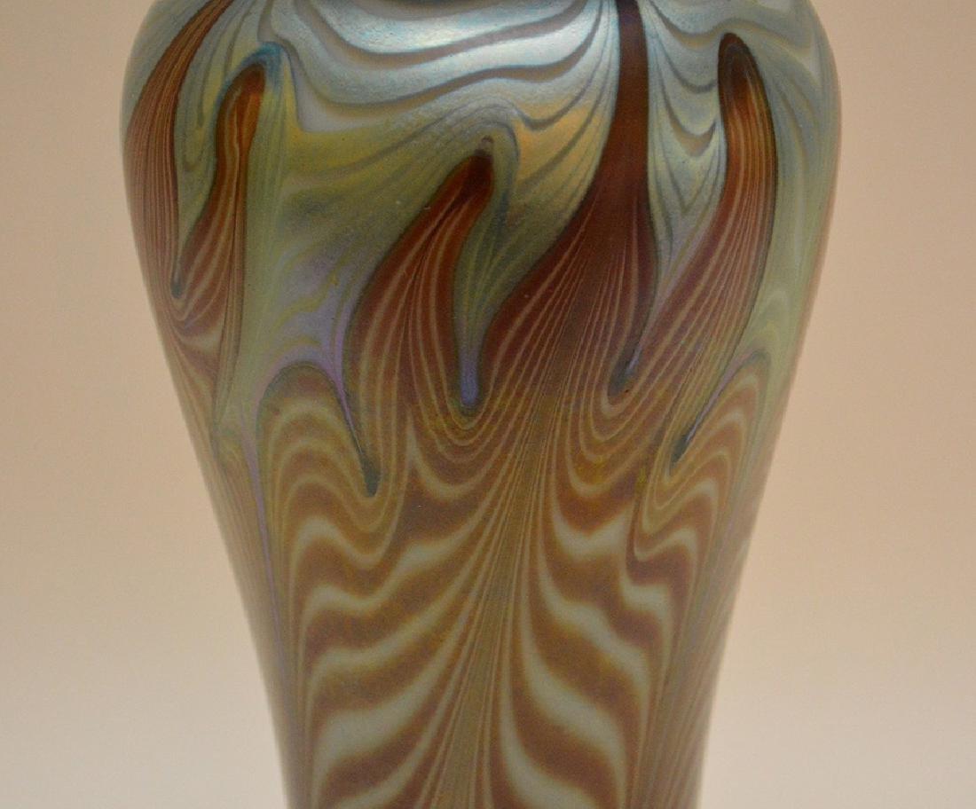 """Art glass vase, 11 1/4""""h - 3"""