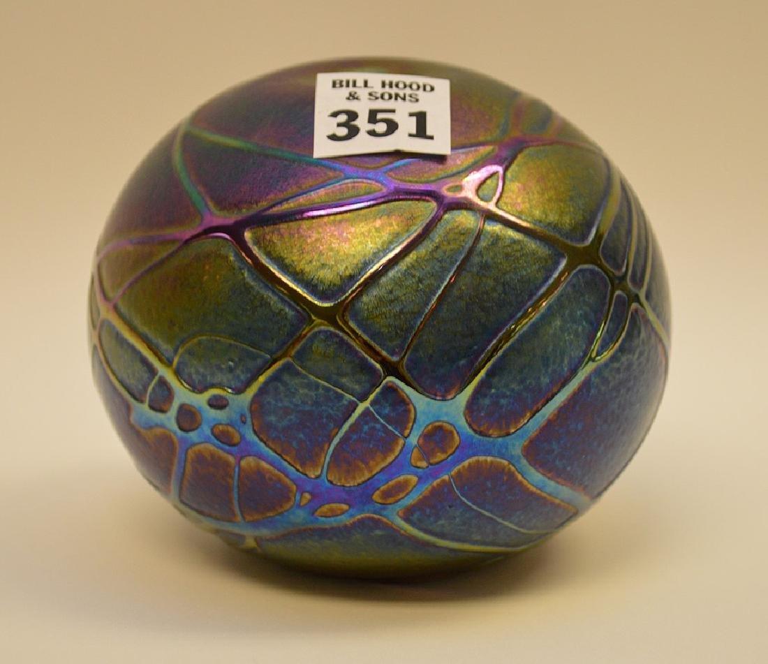 """Art glass """"eyeball"""" vase, 4""""h - 2"""
