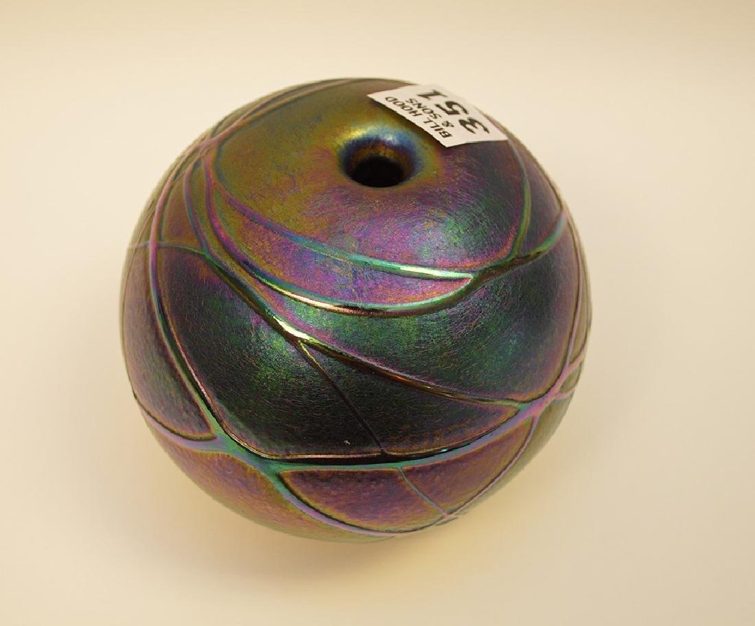"""Art glass """"eyeball"""" vase, 4""""h - 3"""
