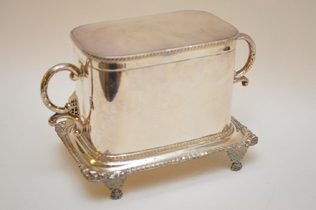 Silver plated English biscuit box - 5