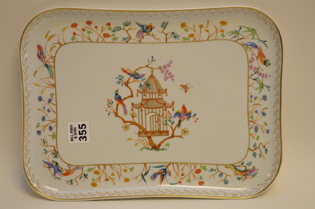 "Limoges tray, Tiffany Audubon charger, 8"" x 10"" - 2"