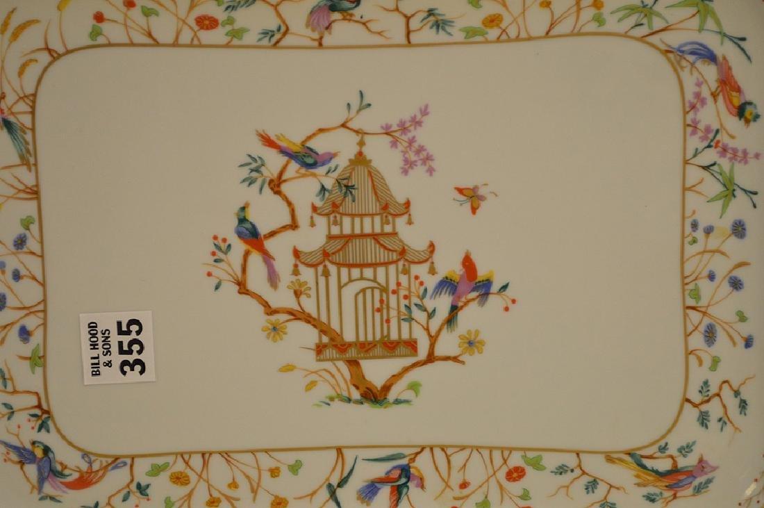 "Limoges tray, Tiffany Audubon charger, 8"" x 10"" - 3"