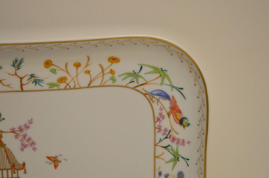 "Limoges tray, Tiffany Audubon charger, 8"" x 10"" - 4"