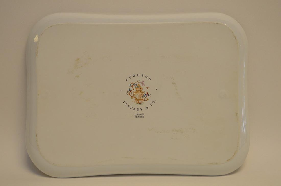 "Limoges tray, Tiffany Audubon charger, 8"" x 10"" - 5"
