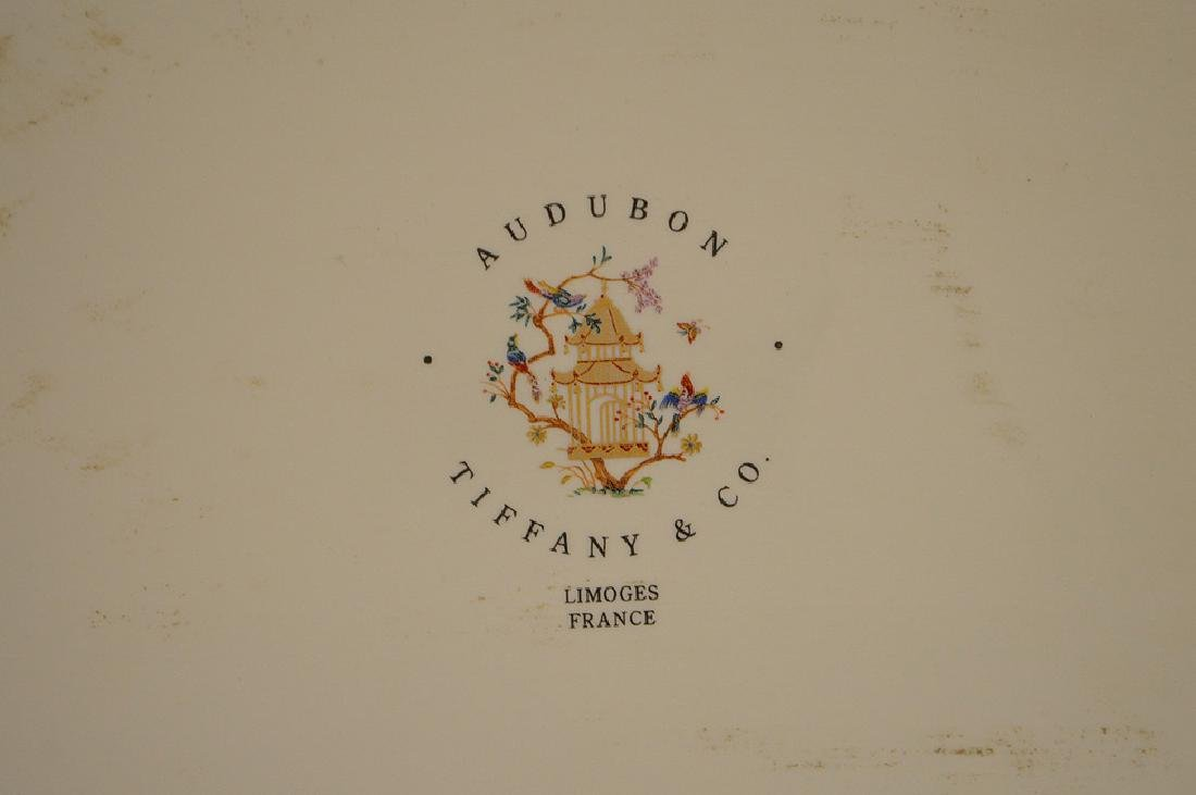 "Limoges tray, Tiffany Audubon charger, 8"" x 10"" - 6"