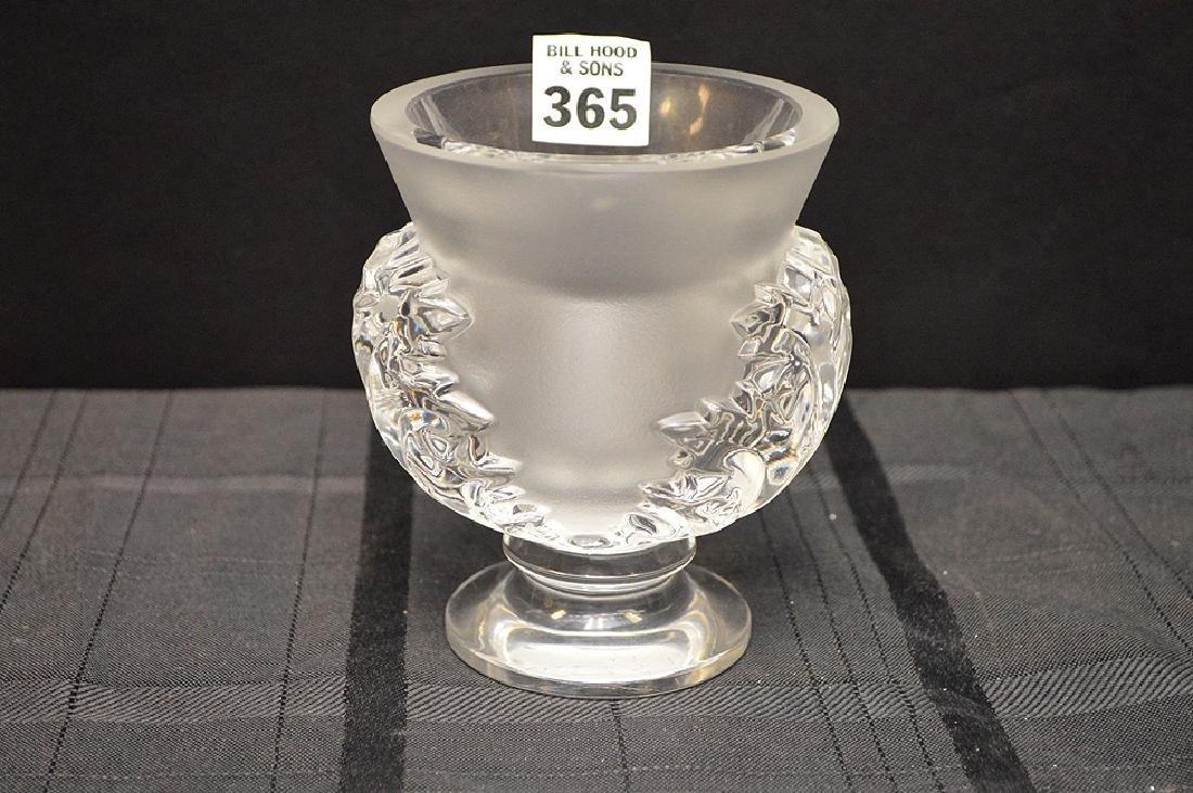"""Lalique vase, 4 1/2""""h"""