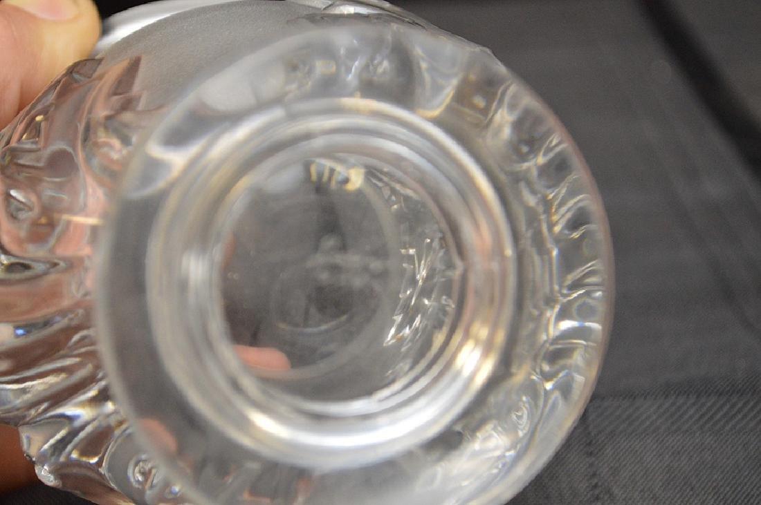 """Lalique vase, 4 1/2""""h - 3"""
