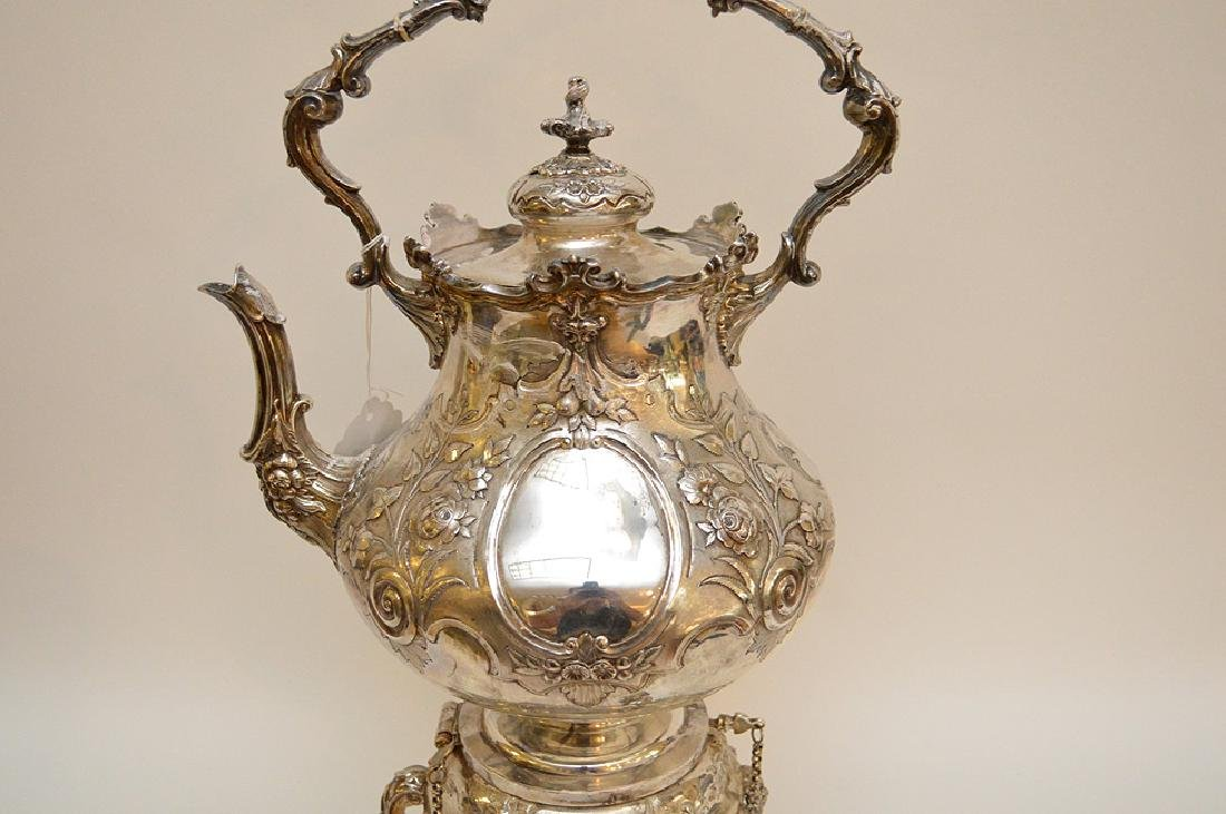 """Silver plate ornate large water/tea urn, 19""""h - 2"""