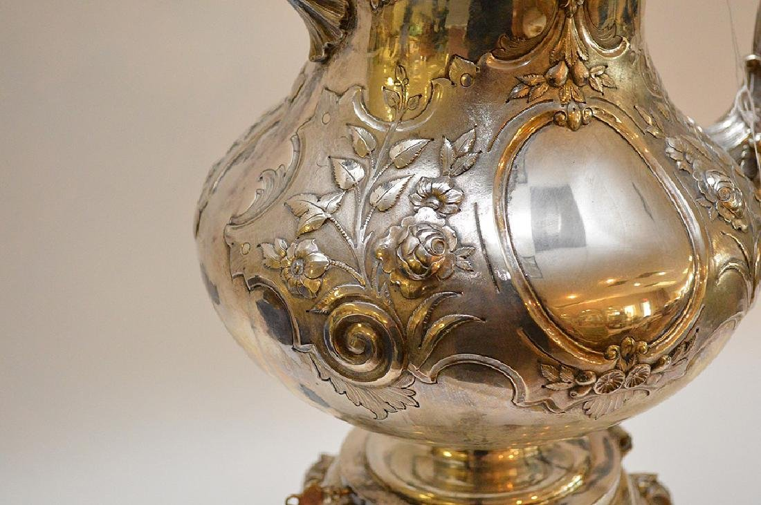 """Silver plate ornate large water/tea urn, 19""""h - 7"""