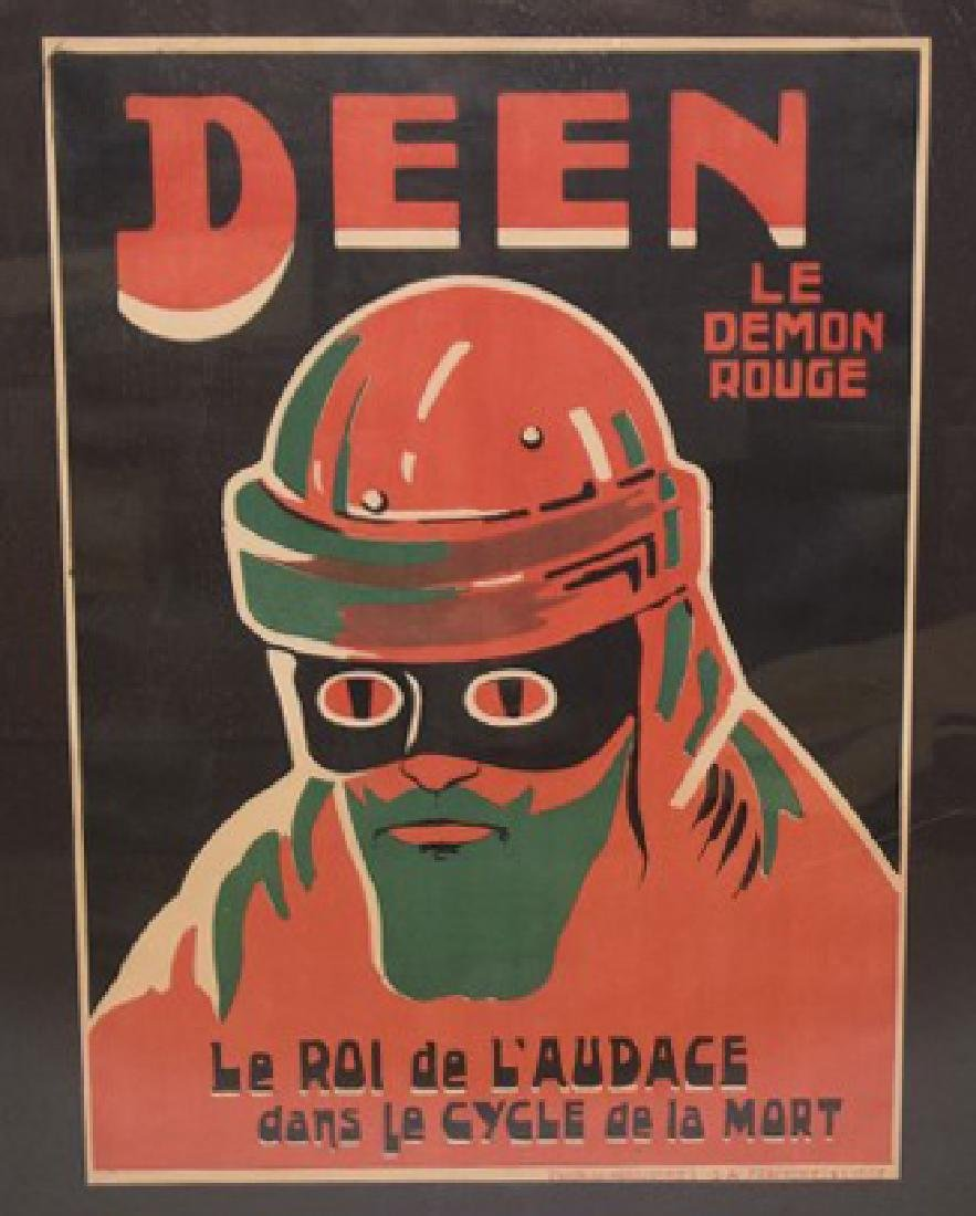 Deen Demon Rouge Original Bicycle Poster, Lithograph
