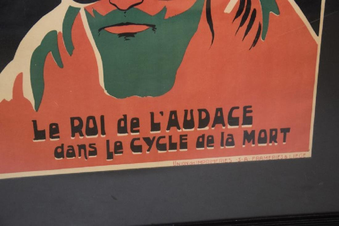 Deen Demon Rouge Original Bicycle Poster, Lithograph - 4