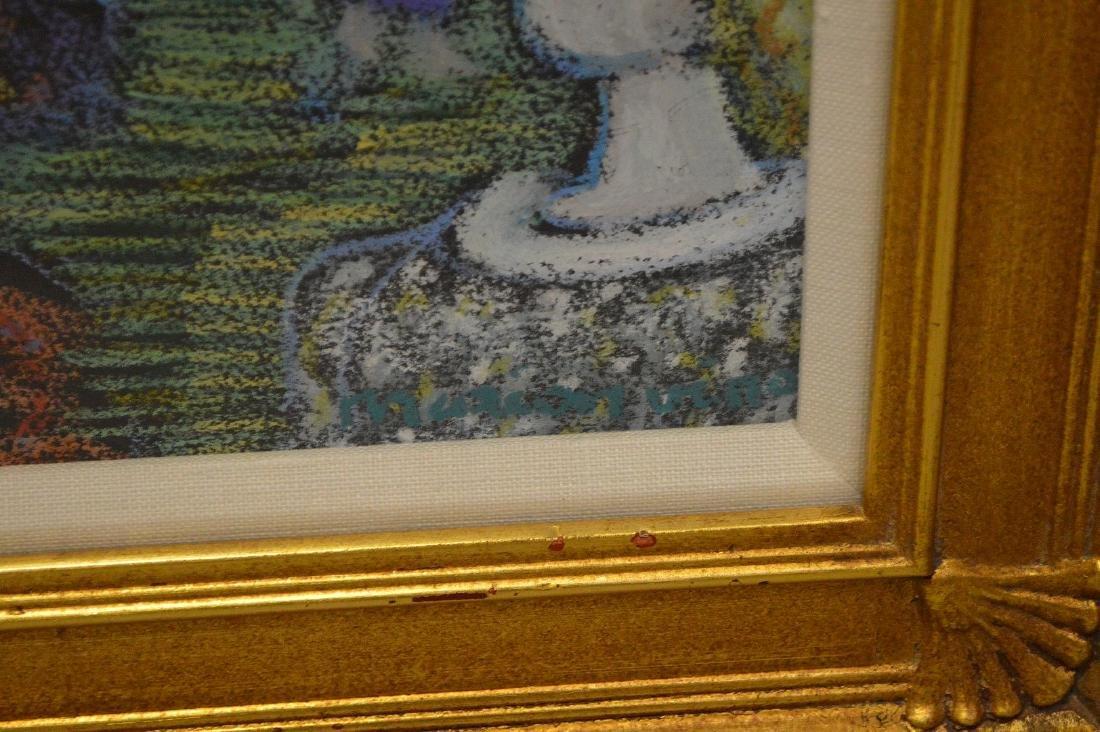 Impressionistic mixed media painting of 3 woman in a - 4