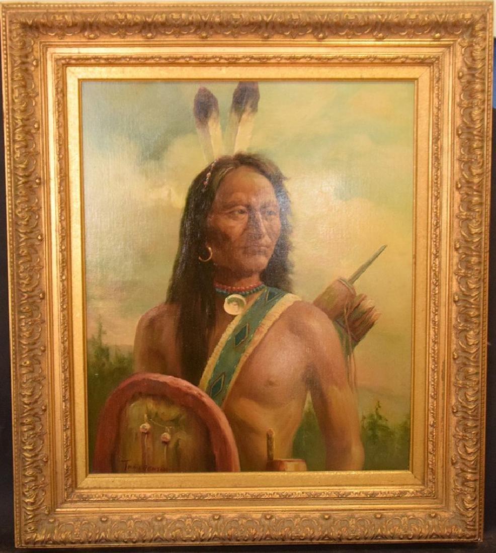 American Indian Portrait by Troy Denton (American, B.