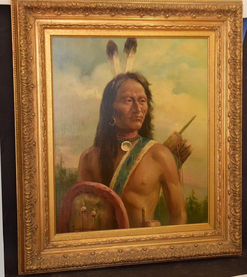 American Indian Portrait by Troy Denton (American, B. - 2