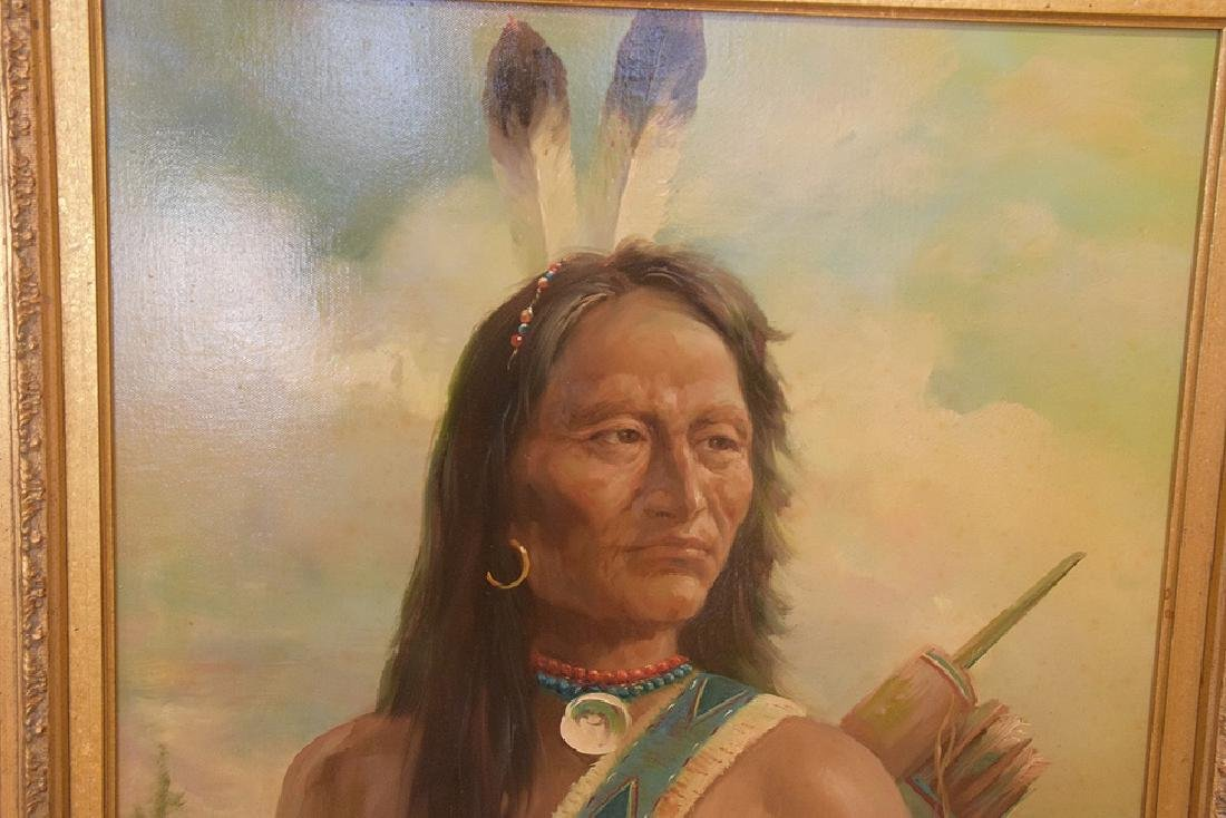 American Indian Portrait by Troy Denton (American, B. - 3