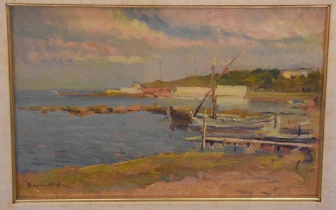 19th Century European School, oil on board, coastal - 2