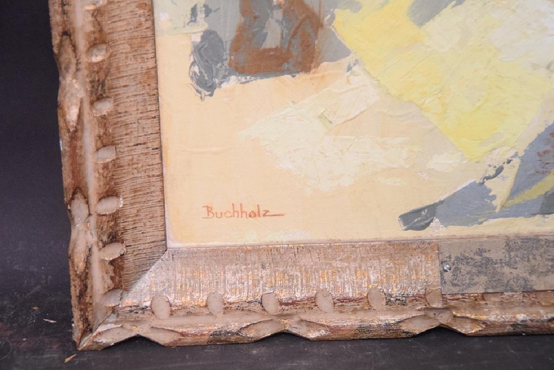 Buchholz, oil on canvas modern still life, 35 x 17 - 2