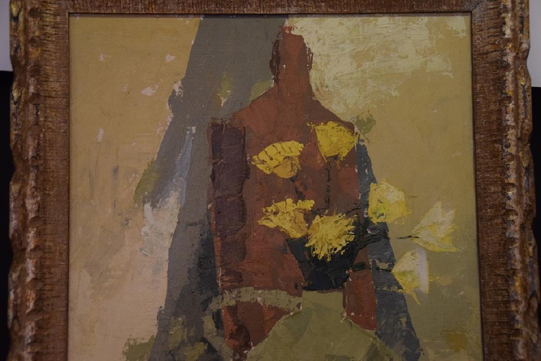 Buchholz, oil on canvas modern still life, 35 x 17 - 3