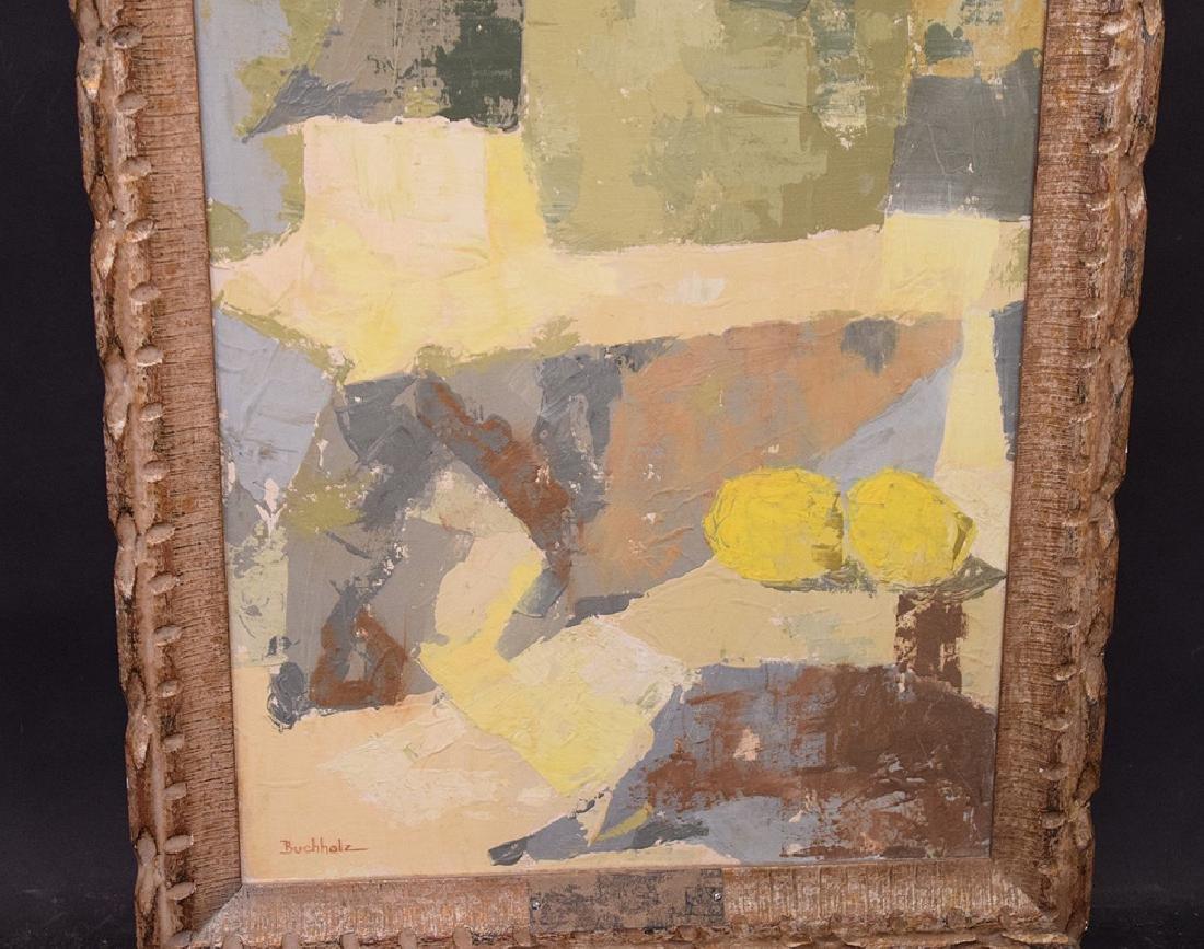 Buchholz, oil on canvas modern still life, 35 x 17 - 4