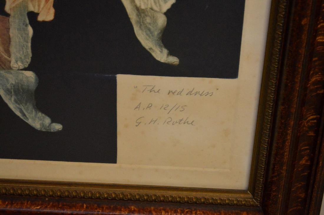 Two (2) G.H. ROTHE  sold together, mezzotint DÉJÀ VU  - - 6