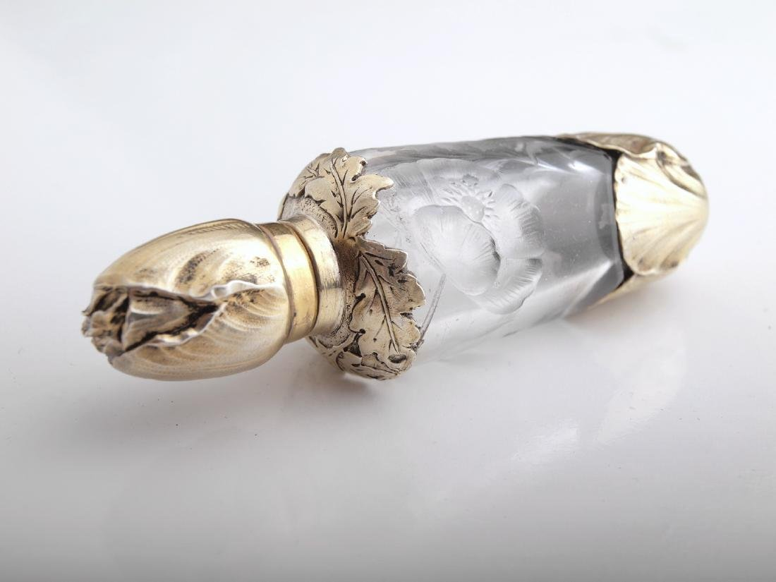 A Faberge silver and rock crystal scent bottle - 9
