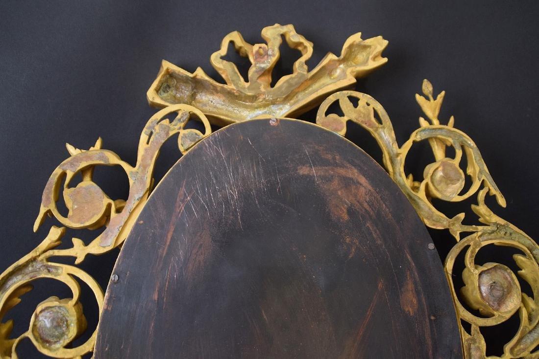 PAIR LOUIS XVI STYLE GILT BRONZE MIRRORS. French 19th - 7