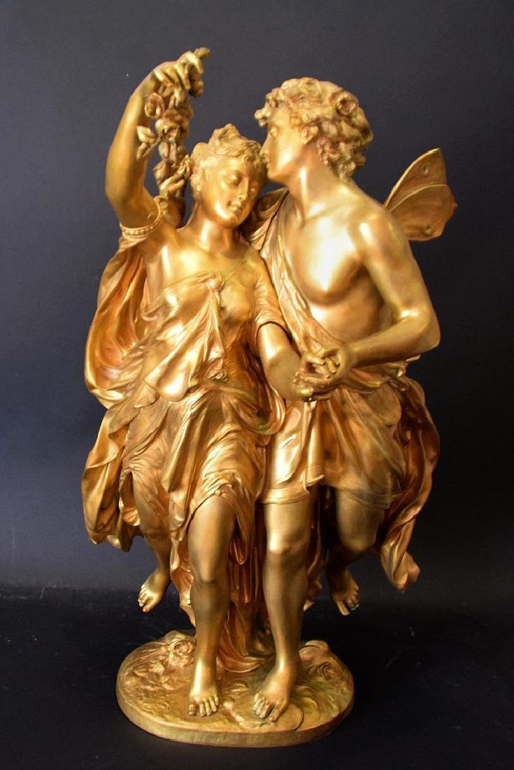 French Bronze Allegorical Sculpture Jean Louis Gregoire