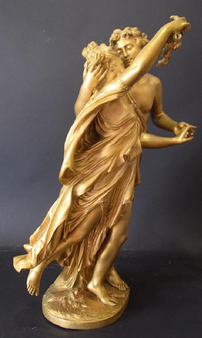 French Bronze Allegorical Sculpture Jean Louis Gregoire - 4