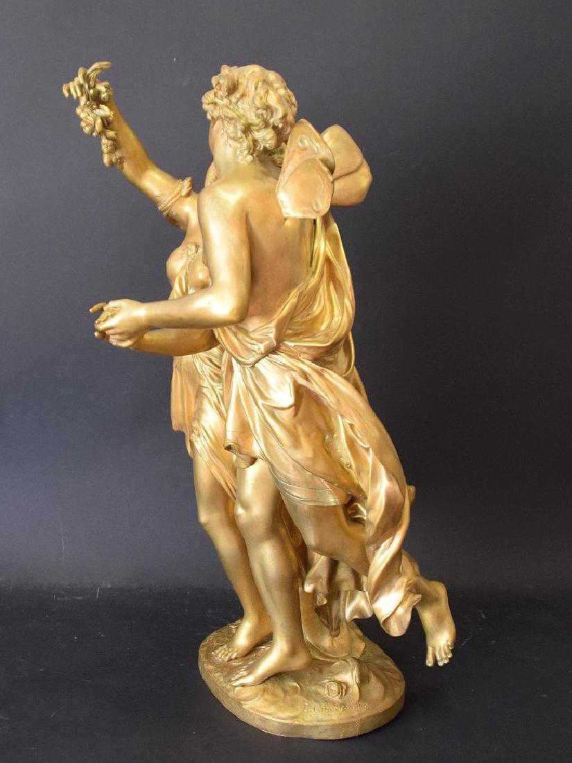French Bronze Allegorical Sculpture Jean Louis Gregoire - 5
