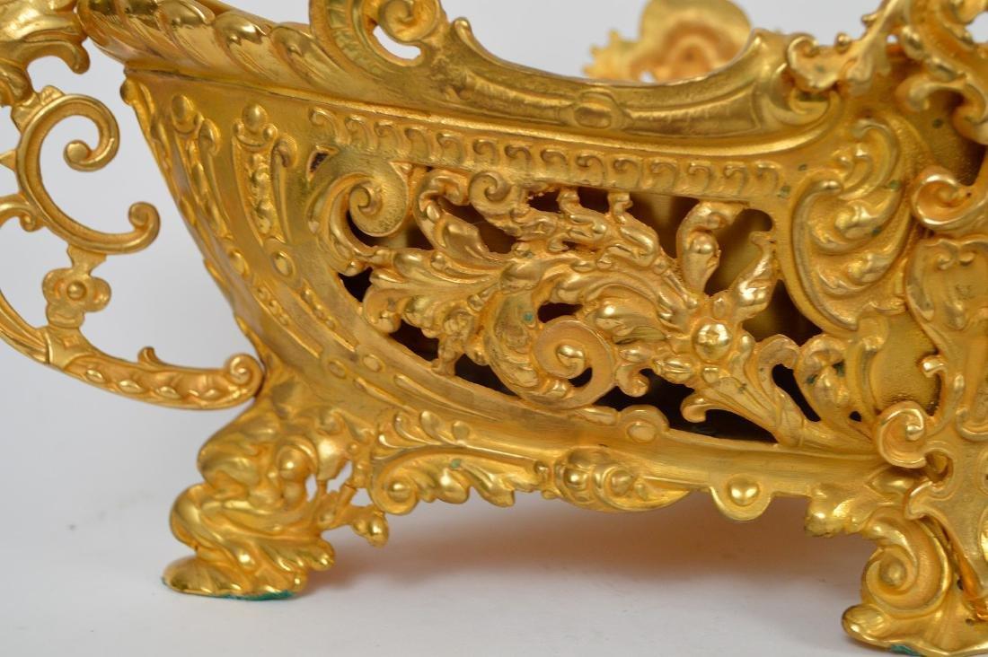 19th Century French Gilt Bronze Center Bowl.  Condtion: - 3