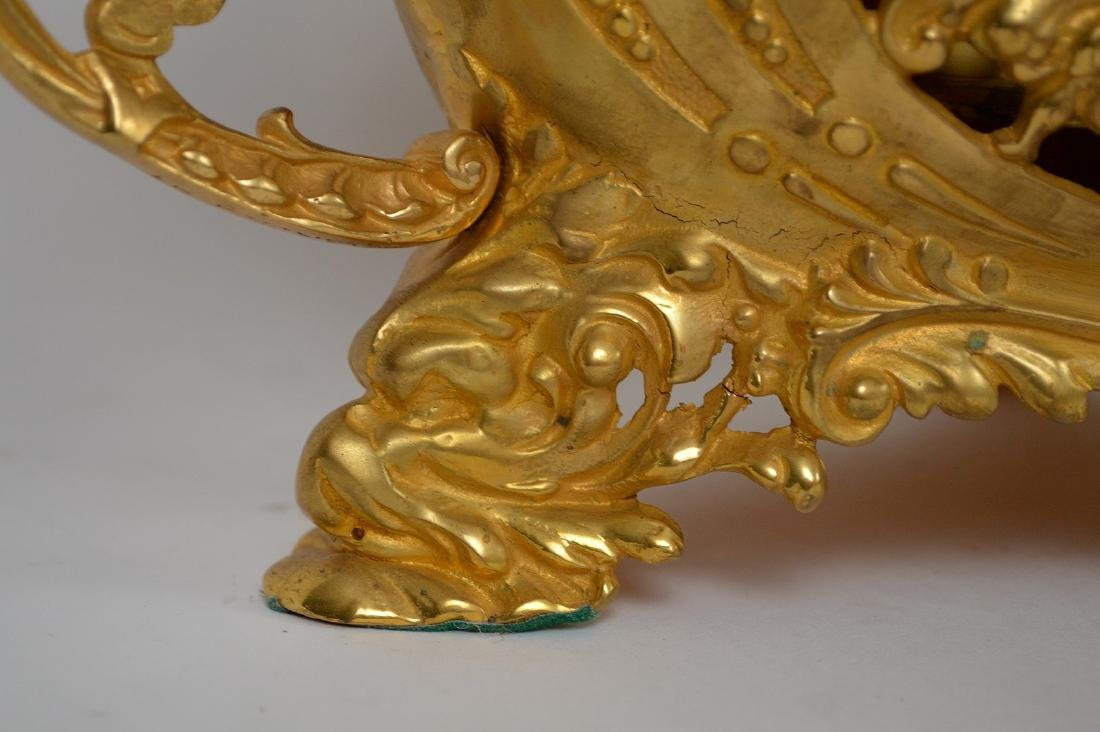 19th Century French Gilt Bronze Center Bowl.  Condtion: - 4