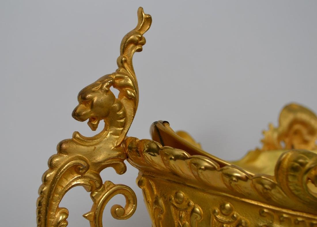 19th Century French Gilt Bronze Center Bowl.  Condtion: - 5