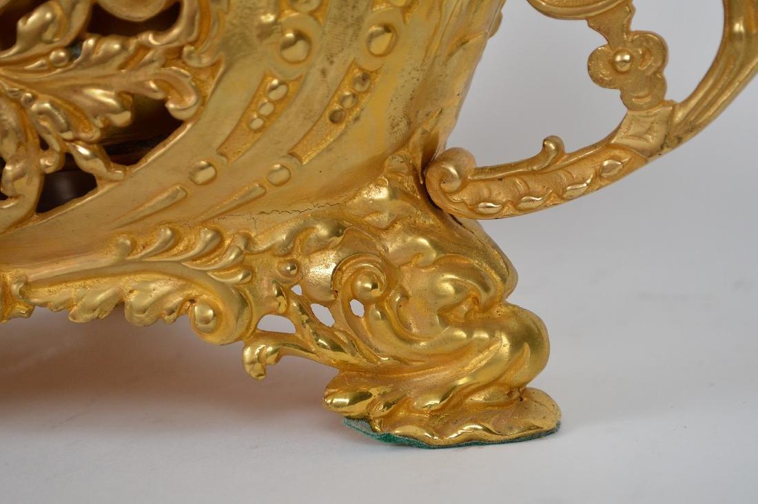 19th Century French Gilt Bronze Center Bowl.  Condtion: - 8