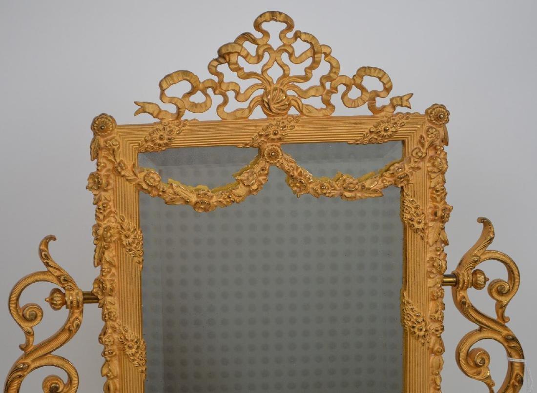 19th Century Gilt Bronze & Onyx Mirror Stand. - 2