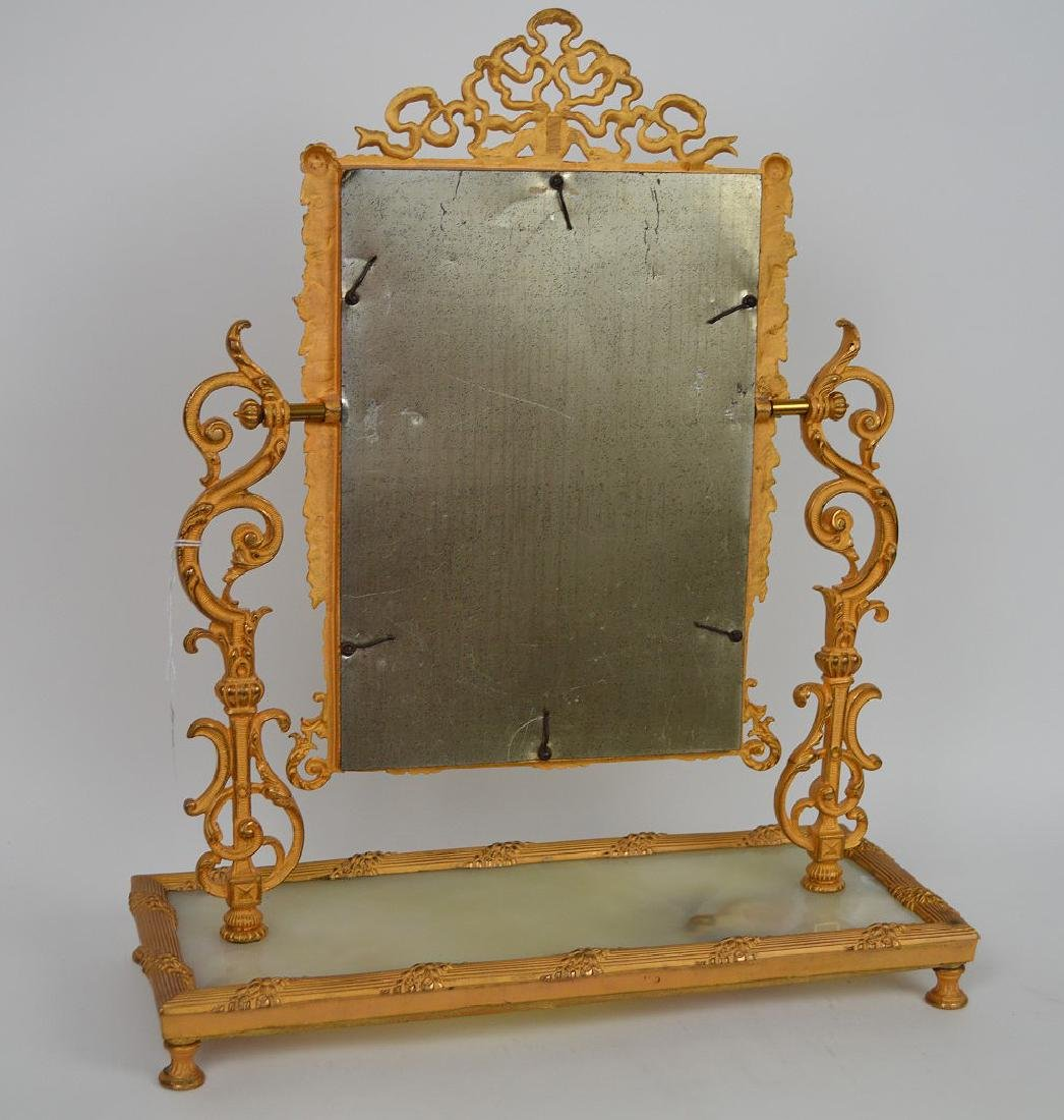 19th Century Gilt Bronze & Onyx Mirror Stand. - 3