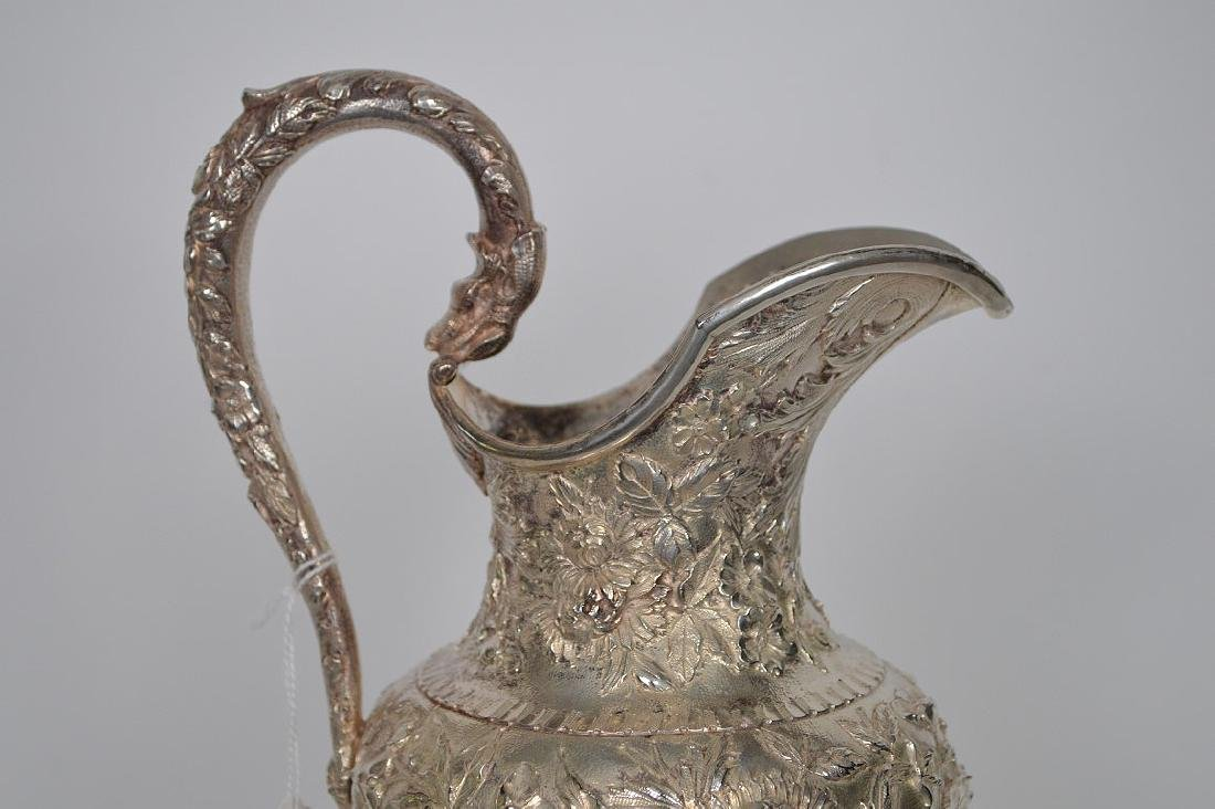 Large Kirk Sterling Repousse Pitcher, 36 ozt - 2