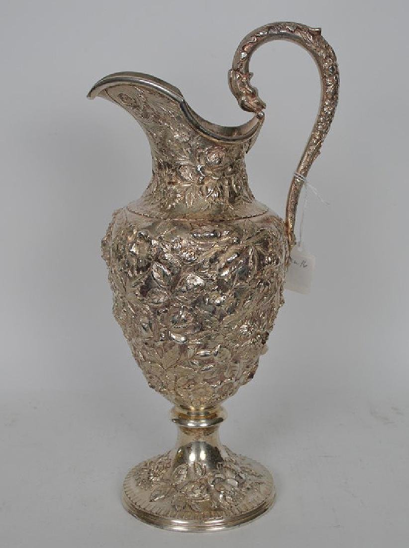 Large Kirk Sterling Repousse Pitcher, 36 ozt - 7