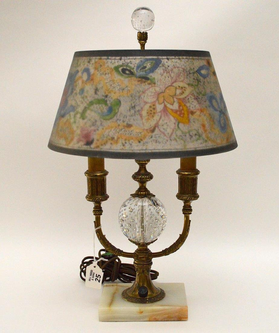 Pairpoint lamp, all  original reverse painted shade on - 3