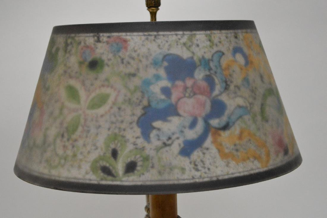 Pairpoint lamp, all  original reverse painted shade on - 5