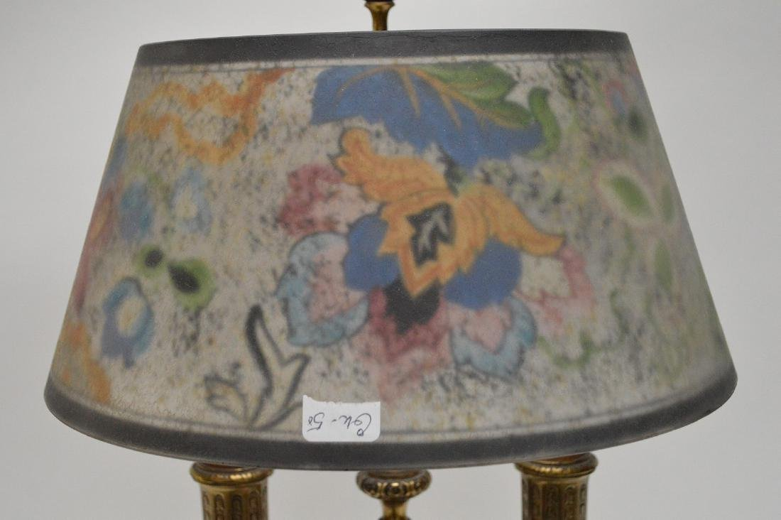 Pairpoint lamp, all  original reverse painted shade on - 7