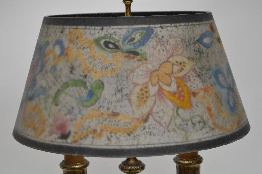 Pairpoint lamp, all  original reverse painted shade on - 9