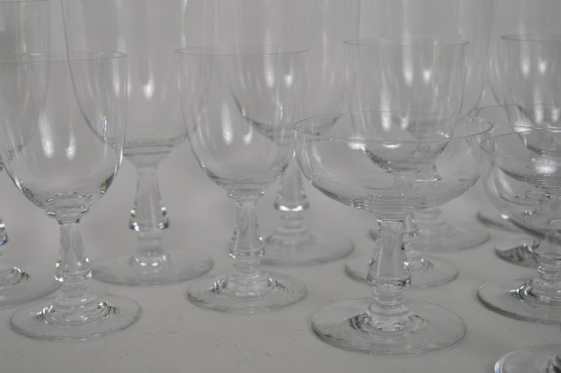 """13 signed Baccarat assorted stems, 4""""h, 5 1/2""""h and 6 - 3"""