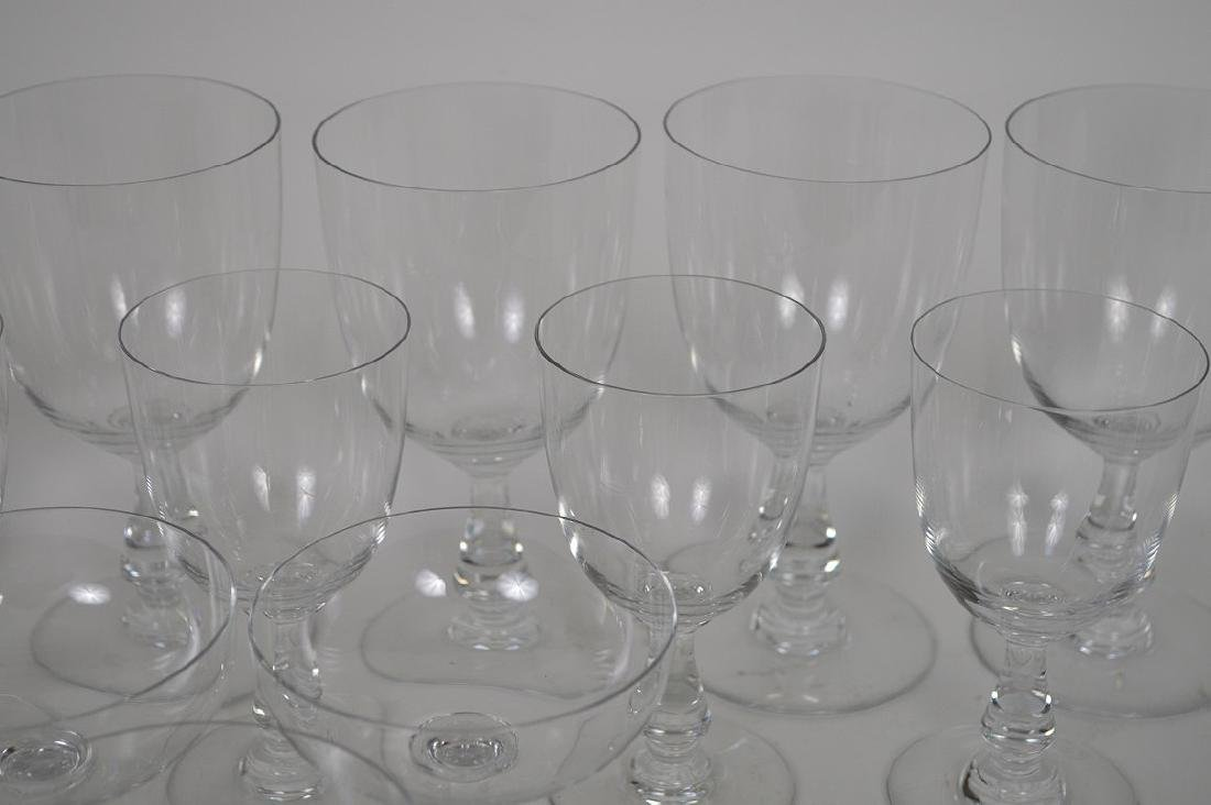 """13 signed Baccarat assorted stems, 4""""h, 5 1/2""""h and 6 - 4"""