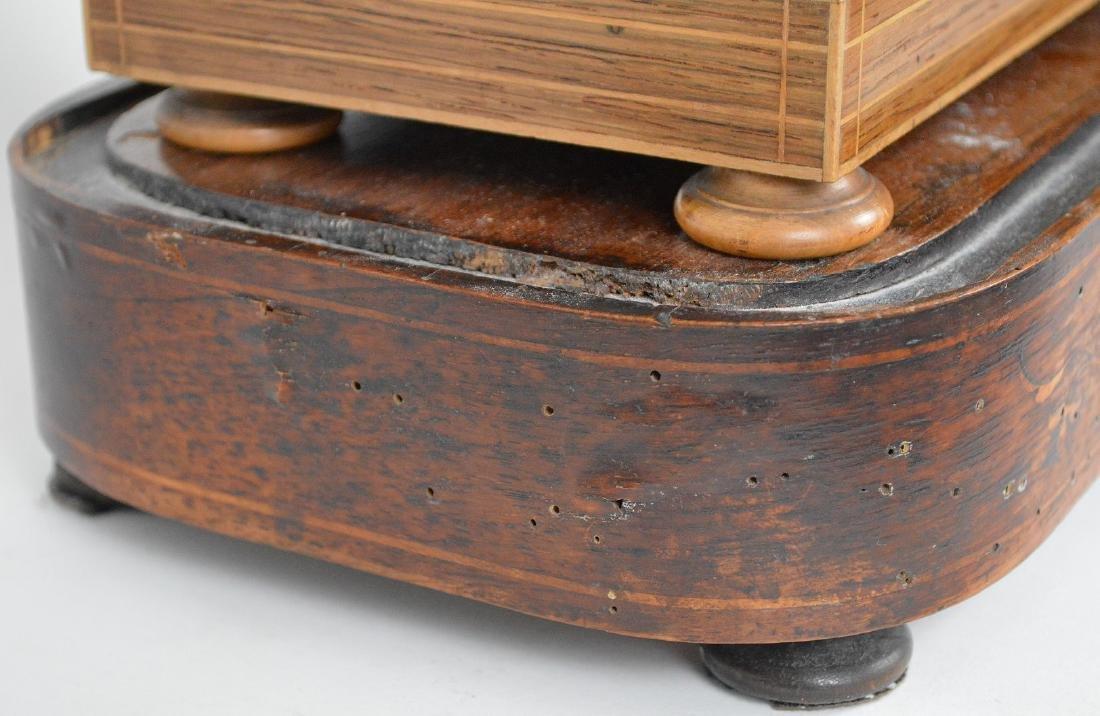 Portico clock, mahogany inlay with bronze accents, - 10