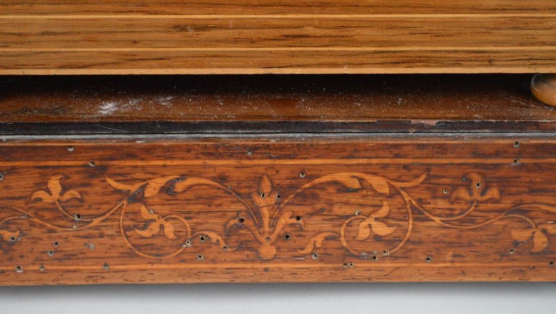 Portico clock, mahogany inlay with bronze accents, - 8