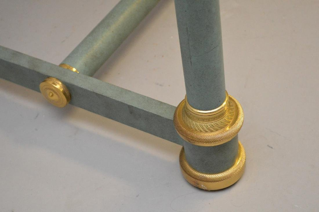 French style modern console, verdigris column legs with - 5