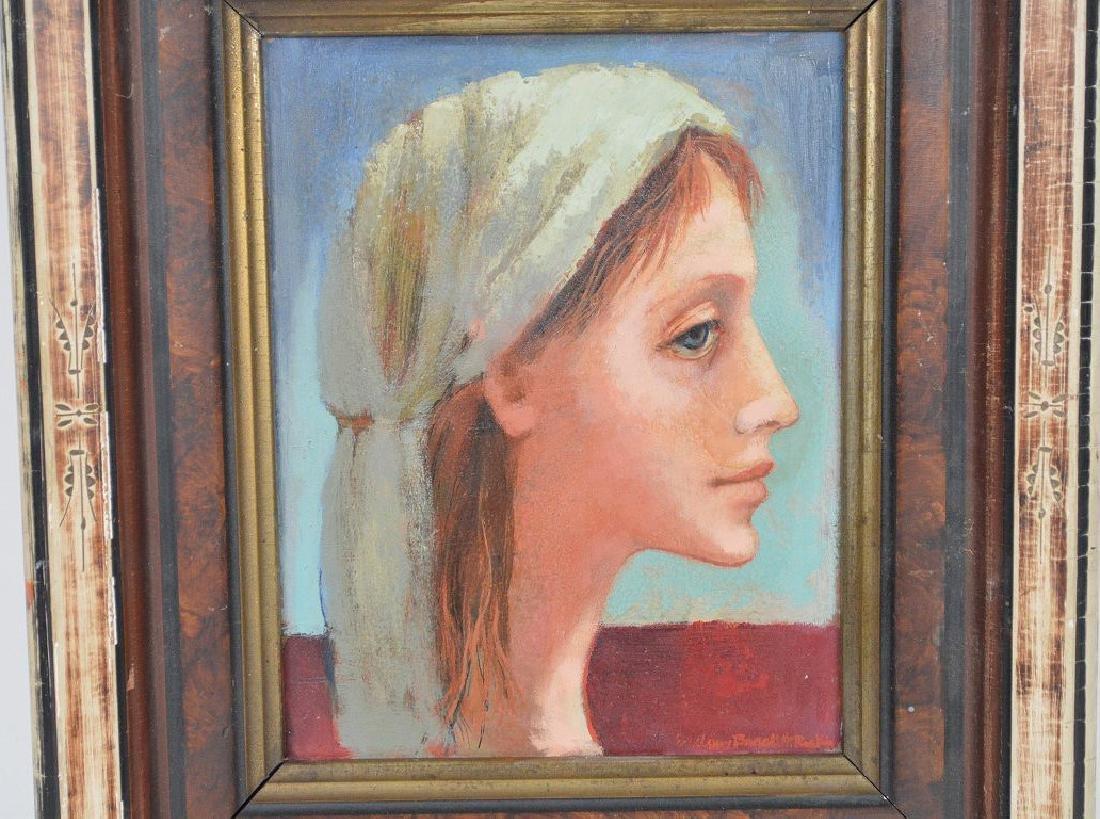 """Evelyn Brackett Raskin (American b. 1922) Titled """"Girl - 2"""