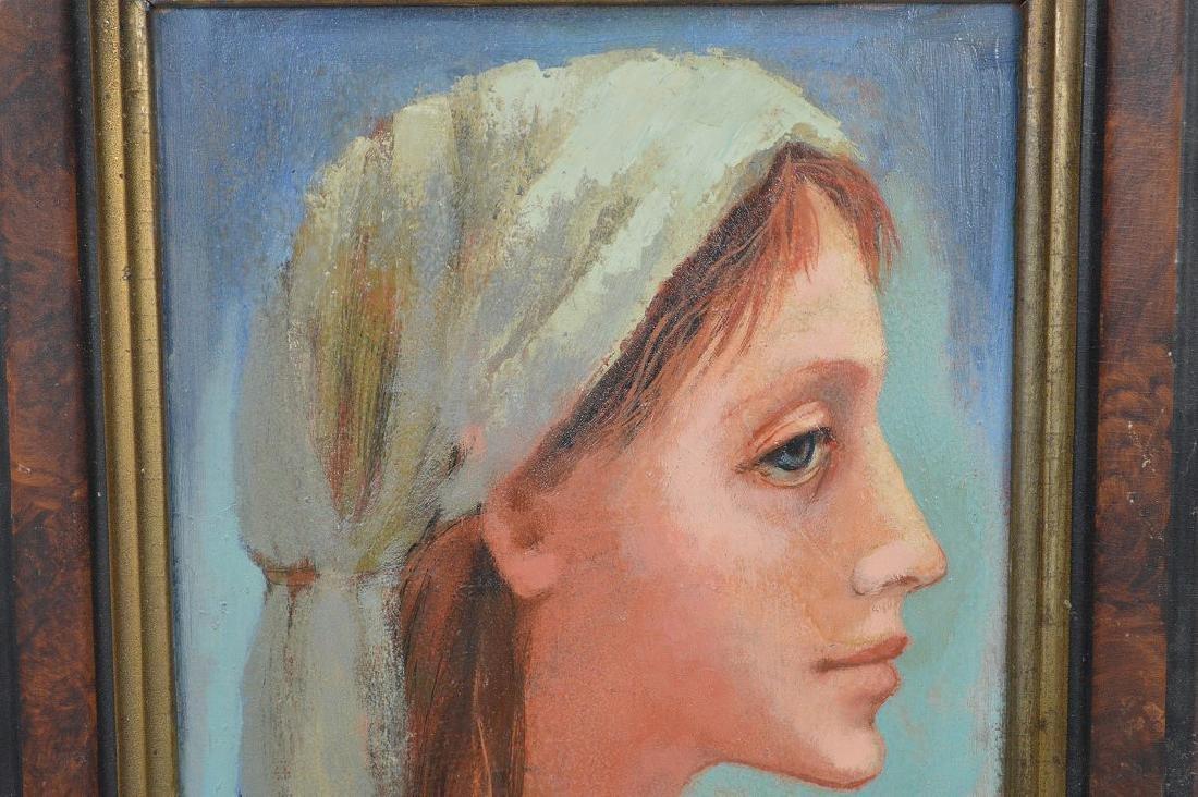 """Evelyn Brackett Raskin (American b. 1922) Titled """"Girl - 3"""