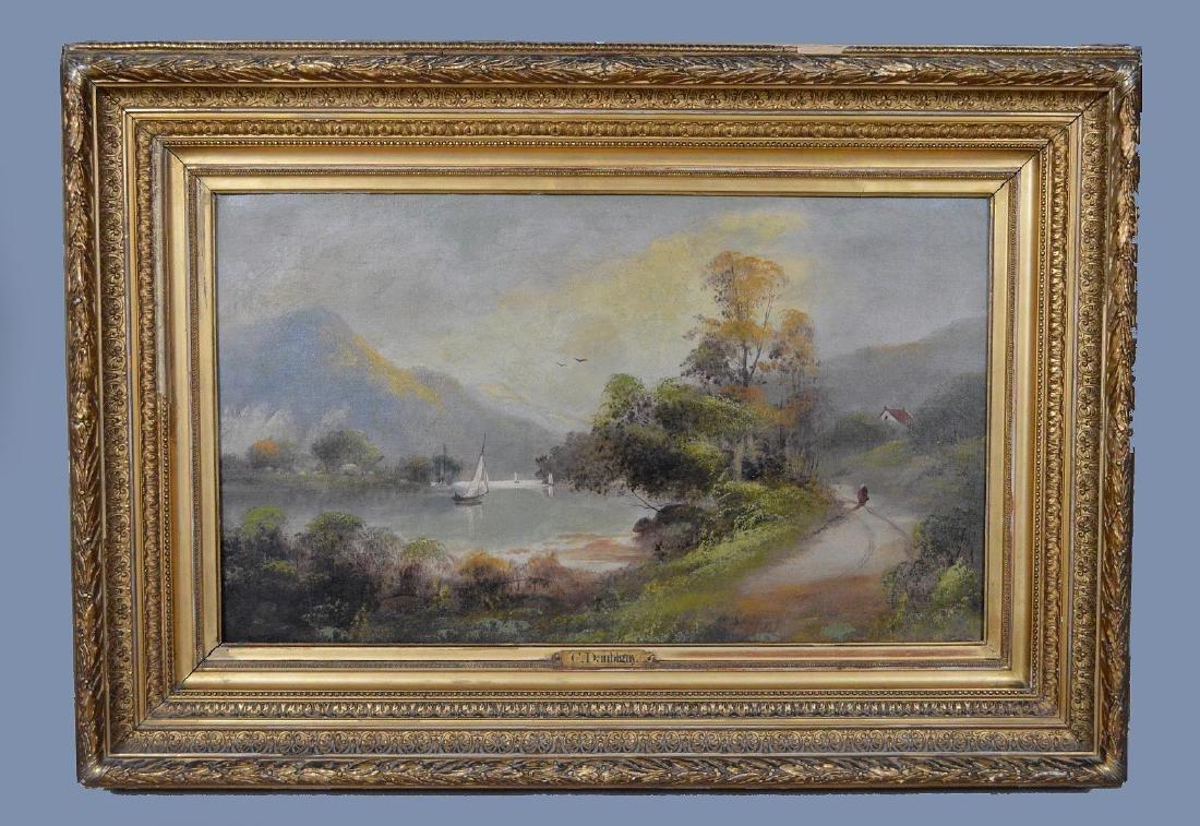 Charles-francois Daubigny (French, 1817-1878) oil on