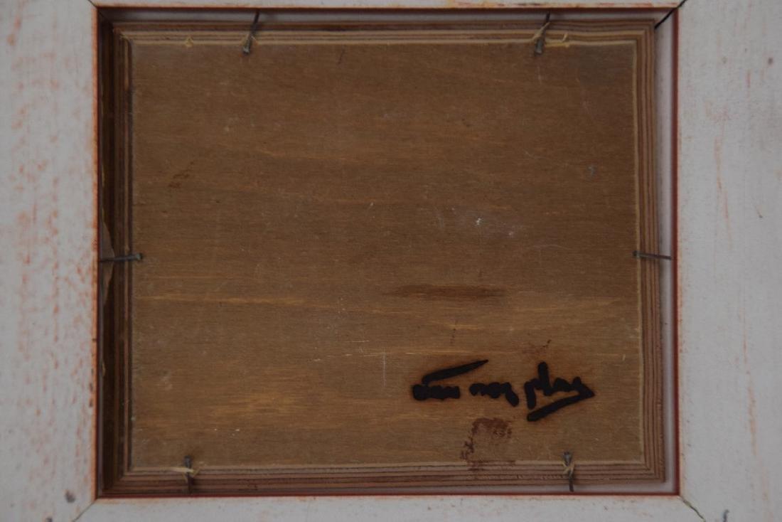 Niek Van Der Plas (Dutch. Born 1954) oil on board, - 4